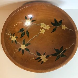 Vintage Munsing Handpainted Wooden Serving Bowl